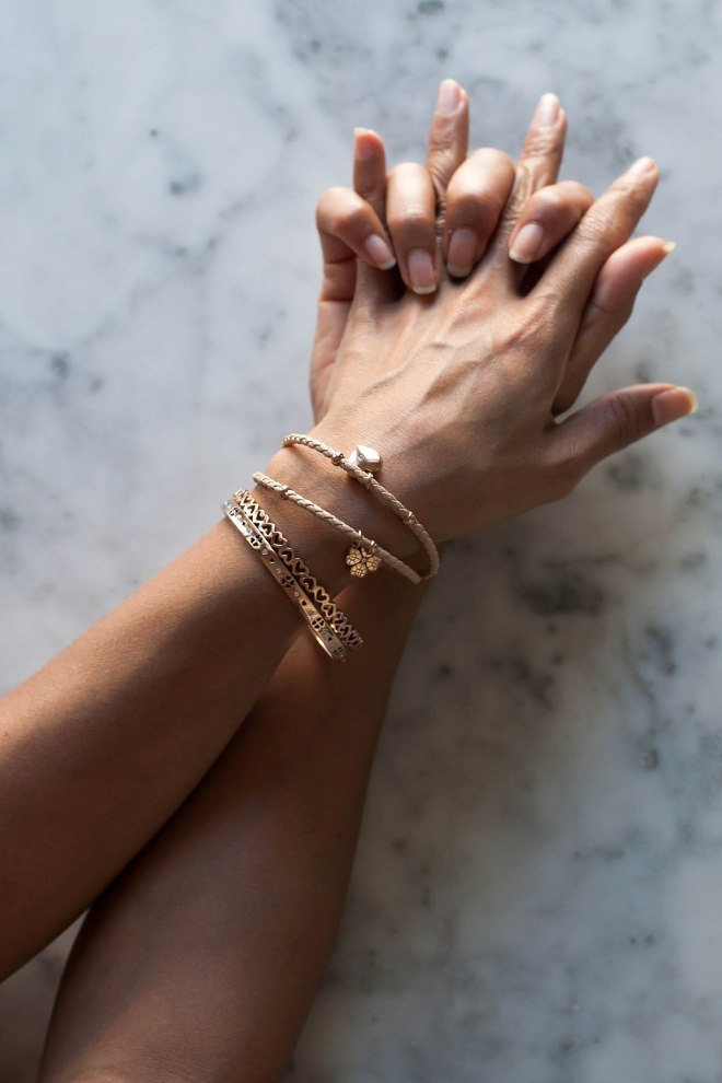 Bianca Cheah, Folli follie, rose gold bracelets