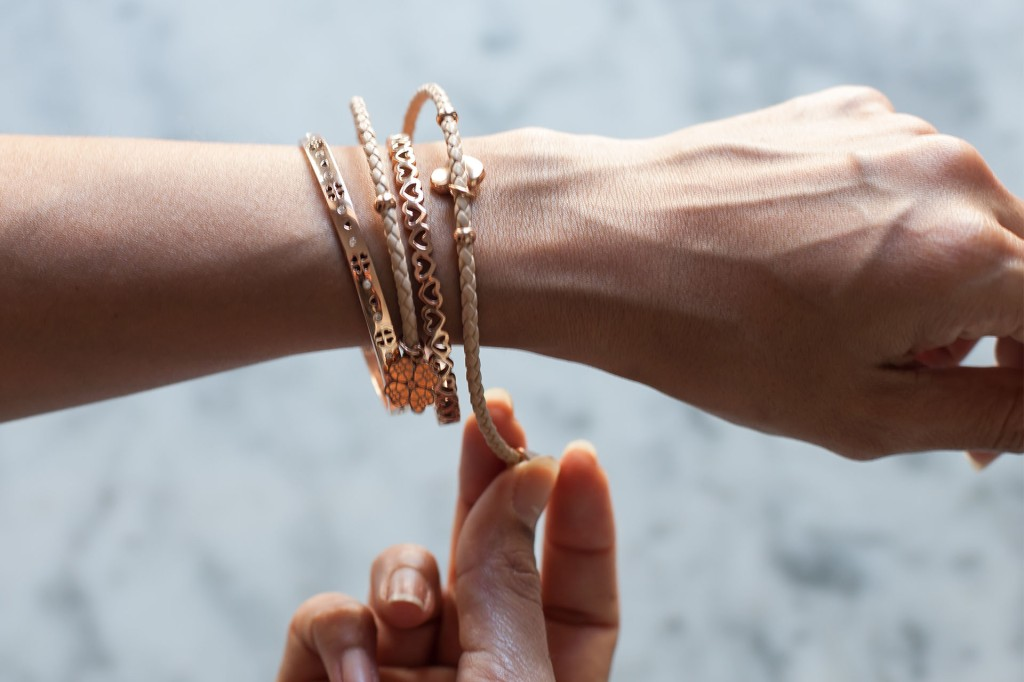 Bianca Cheah, Folli follie, rose gold bracelets
