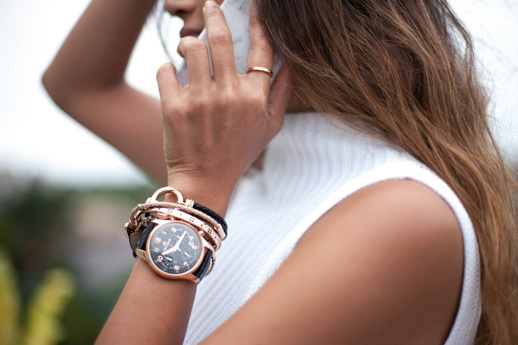 Folli Follie, rose gold watch
