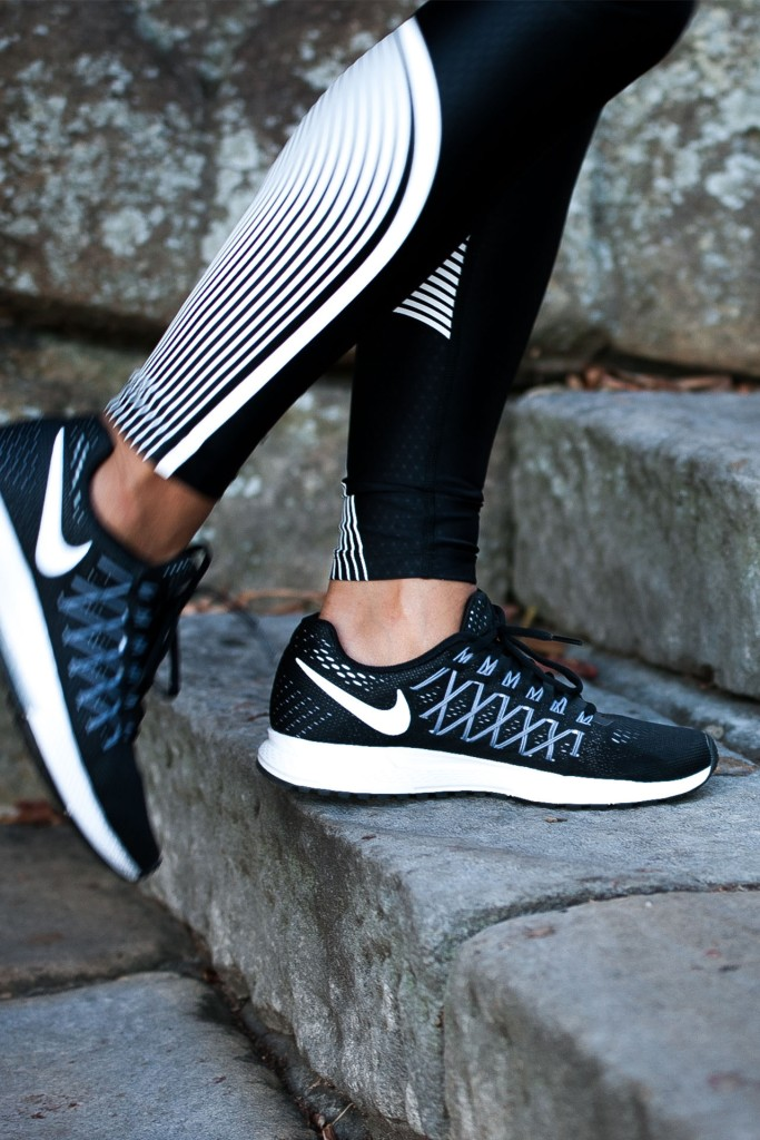Nike Pegasus black and white runners, Bianca Cheah