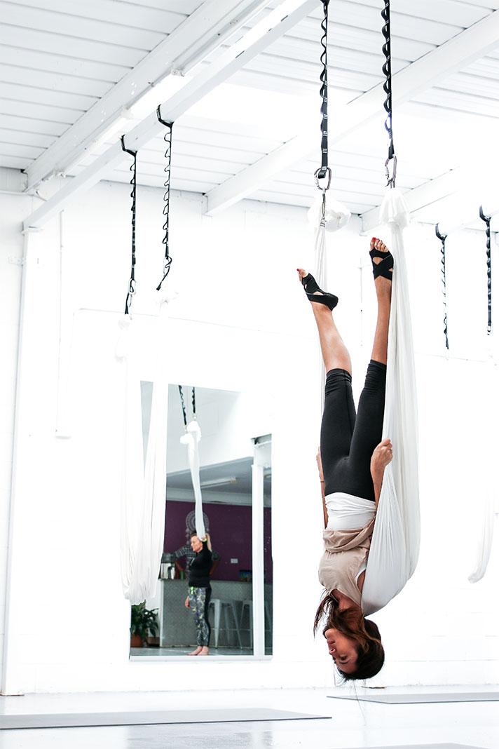 Yoga Shed, Bianca Cheah, Gold Coast, anti gravity yoga