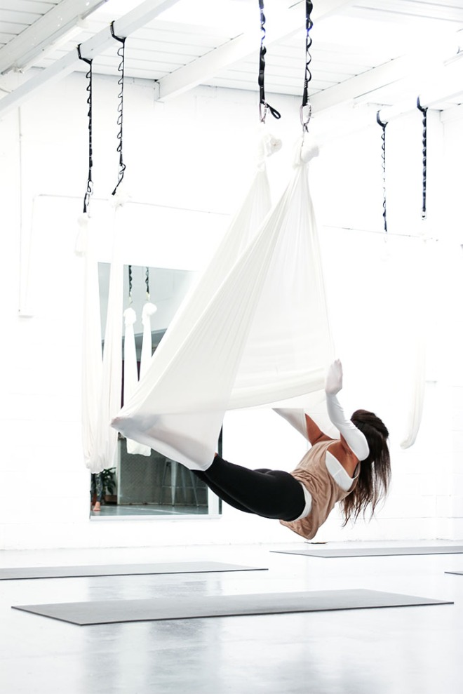 Yoga Shed, Bianca Cheah, Gold Coast, anti gravity yoga