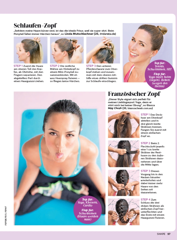 Bianca Cheah, Shape Germany, Shape Magazine, Bianca Cheah hair