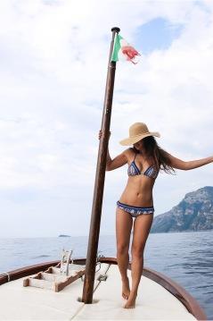 Bianca Cheah, Tigerlily Swimwear, Amalfi Coast Boat