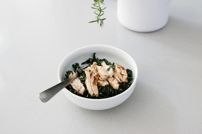 Kale and parmesan salad, lactose free