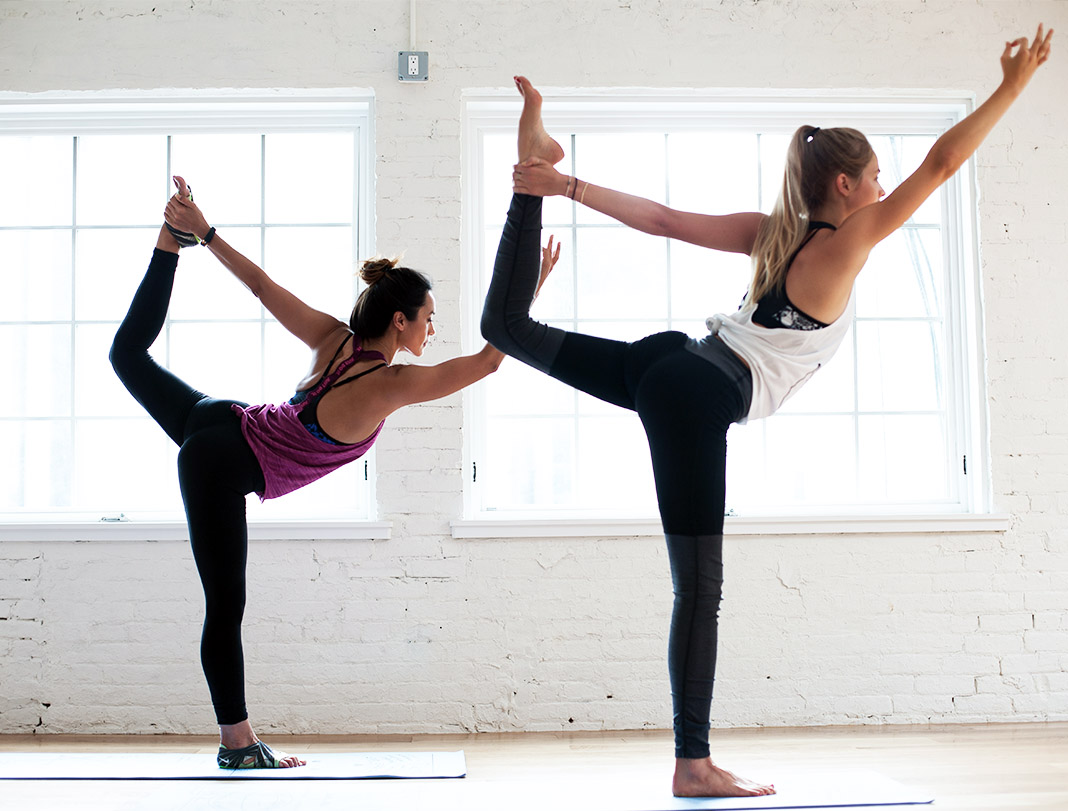 Bianca Cheah practicing yoga at Sky Ting