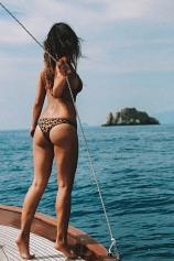 Wellness influencer Bianca Cheah in Positano